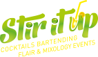 Stir It Up – Cocktail Logo